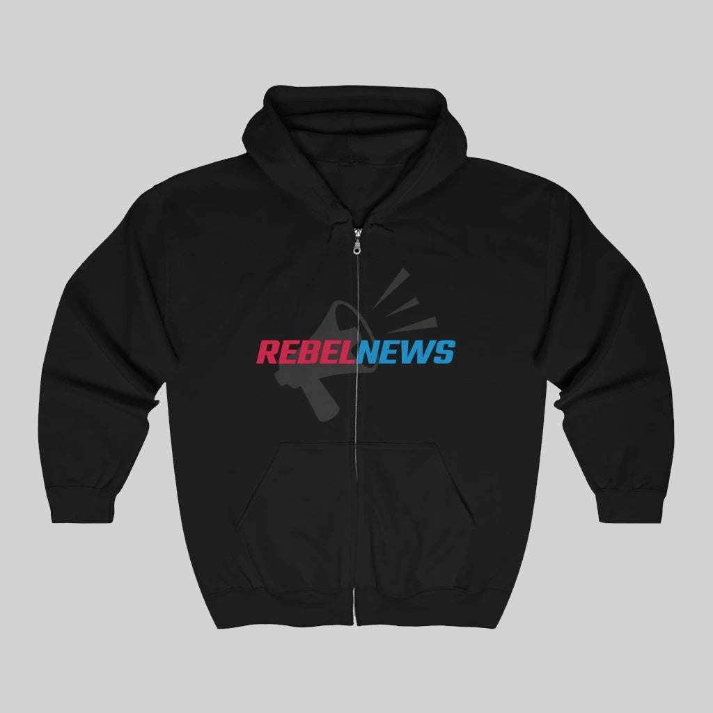 Free Shipping - Rebel News 2 - Unisex Zip Hoodie