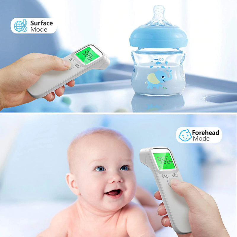 Infrared Portable No Contact Digital Thermometer Gun LCD Screen Electronic Accuracy Sensor Surface Forehead Mode Baby Babies