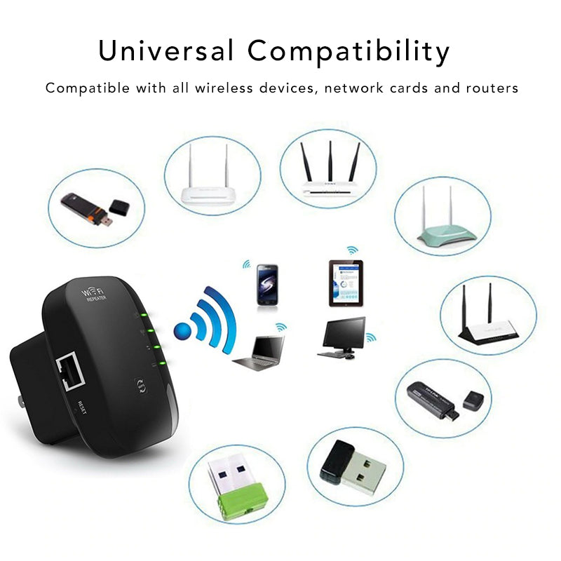 Mini Wireless WiFi Signal Booster Universal Compatibility Compatible Wireless Devices Network Cards Routers