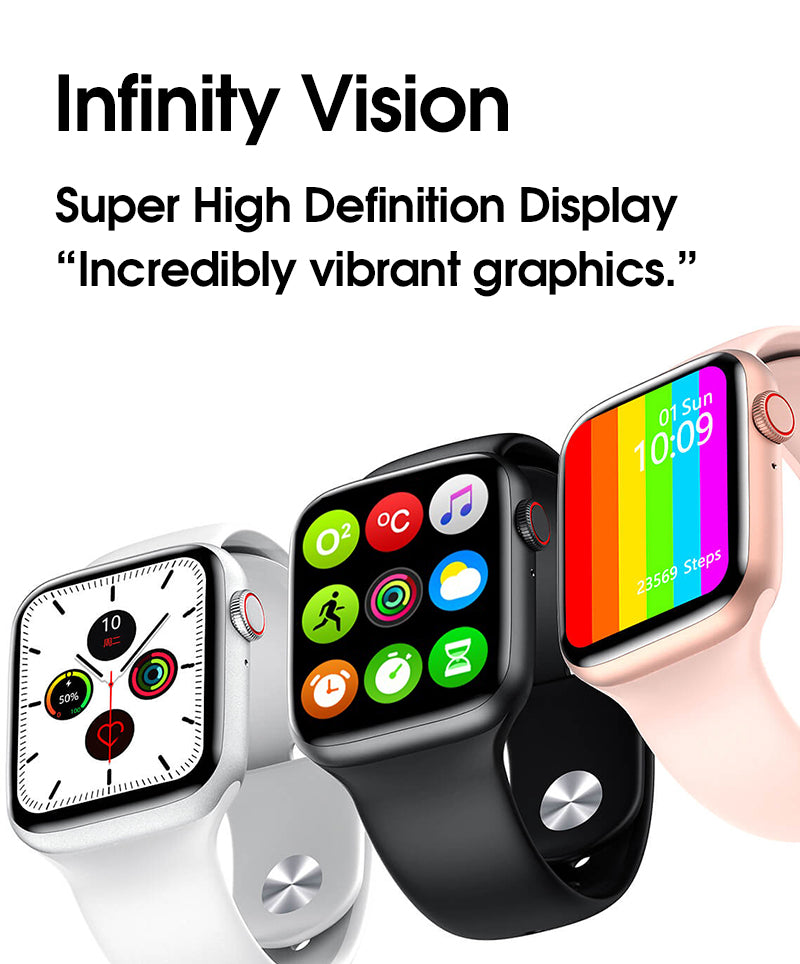 iSport 6 Smart Watch Infinity Vision Size Full Screen Super High Definition Retina Display Incredible Vibrant Graphics