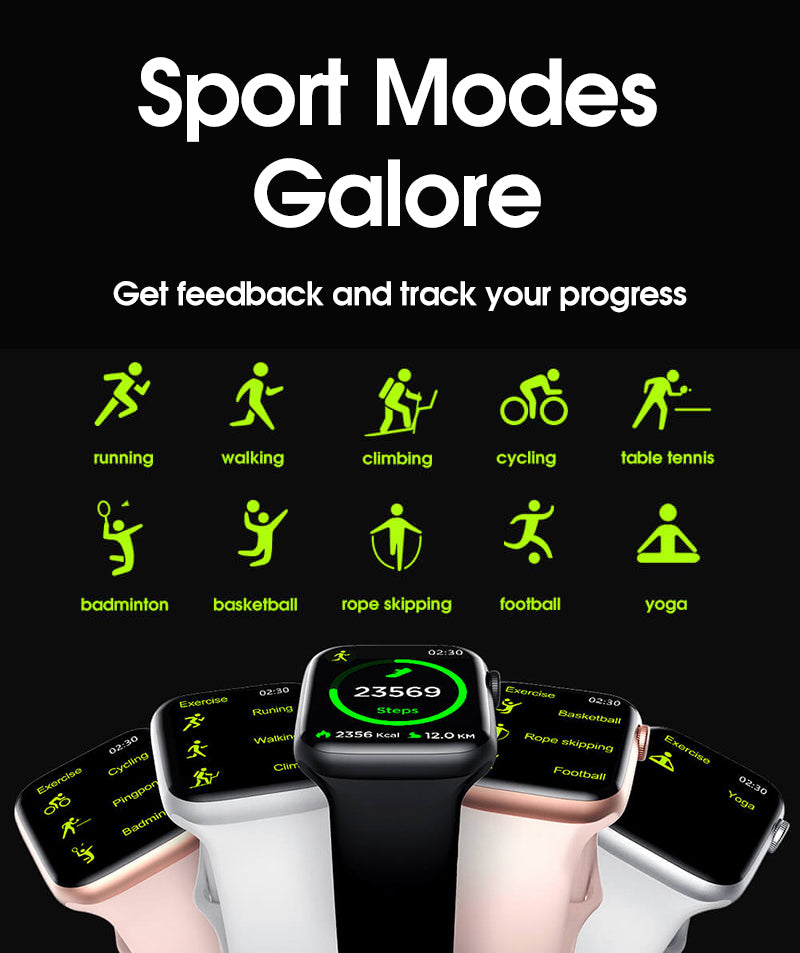 iSport 6 Smart Watch Exercise Sport Modes Galore Football Yoga Cycling Tennis Climbing Get Feedback Track Your Progress
