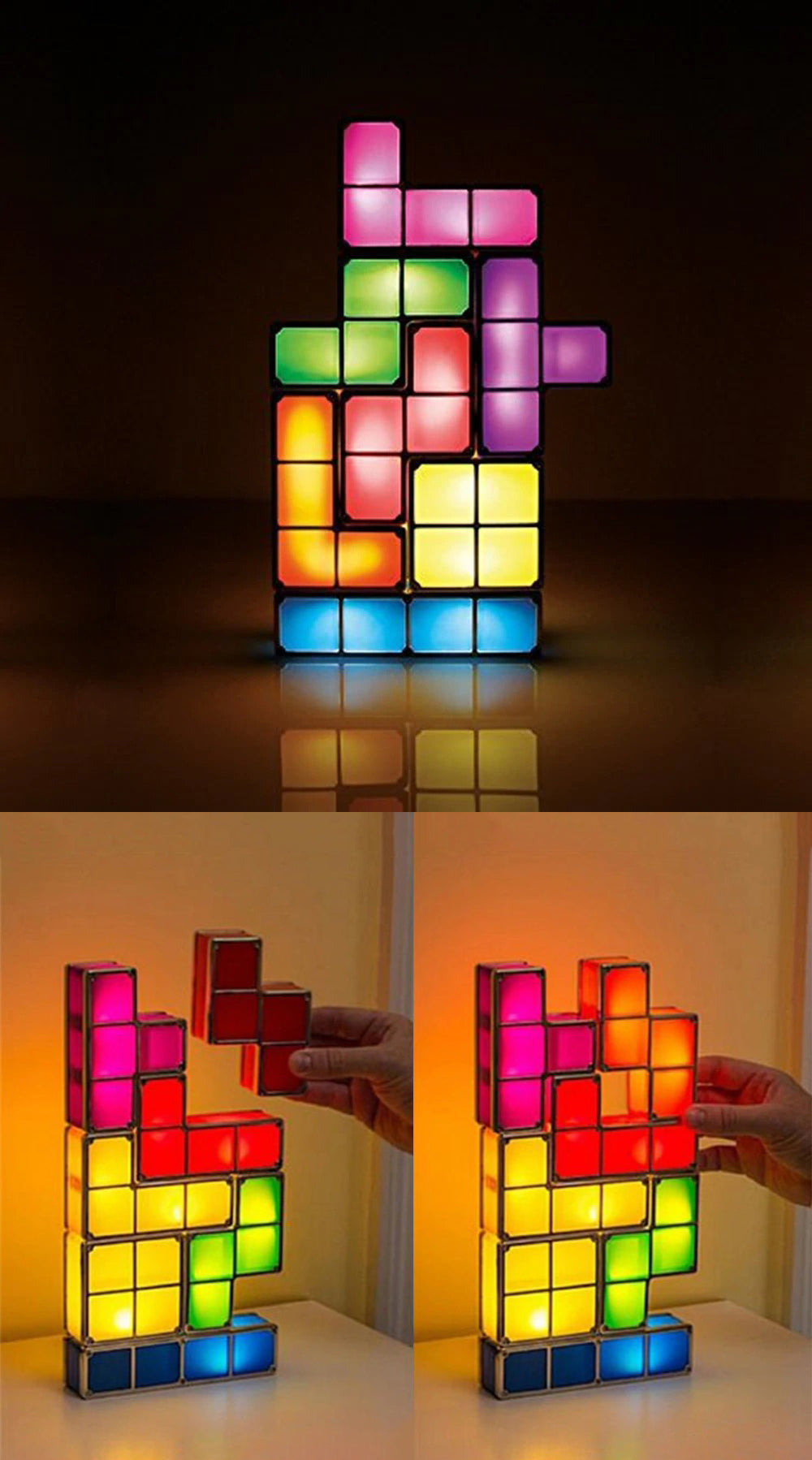 Stackable Tetris Puzzle Night Light