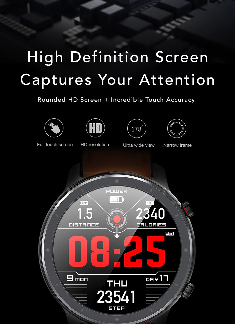X9 Beretta Smart Watch Make Rounded High Definition ScreenCaptures Your Attention