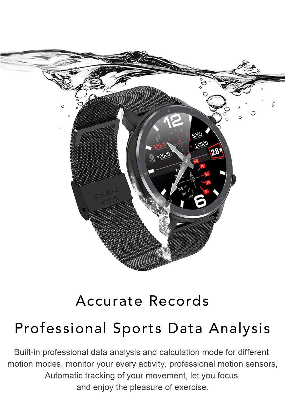 X9 Beretta Smart Watch Professional Sports Data Analysis