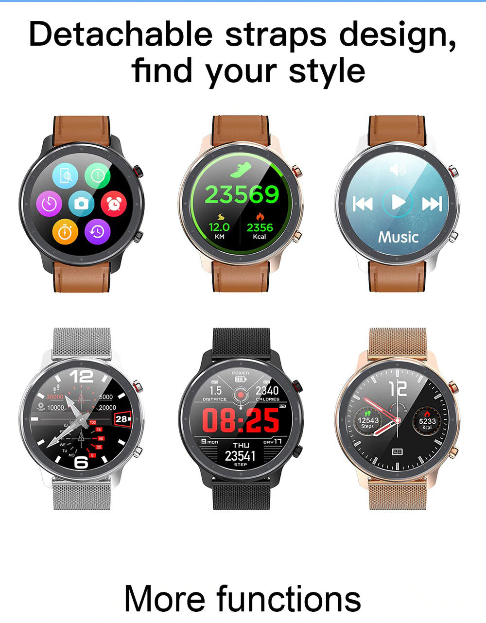 X9 Beretta Smart Watch Detachable Strap Design Find Your Style