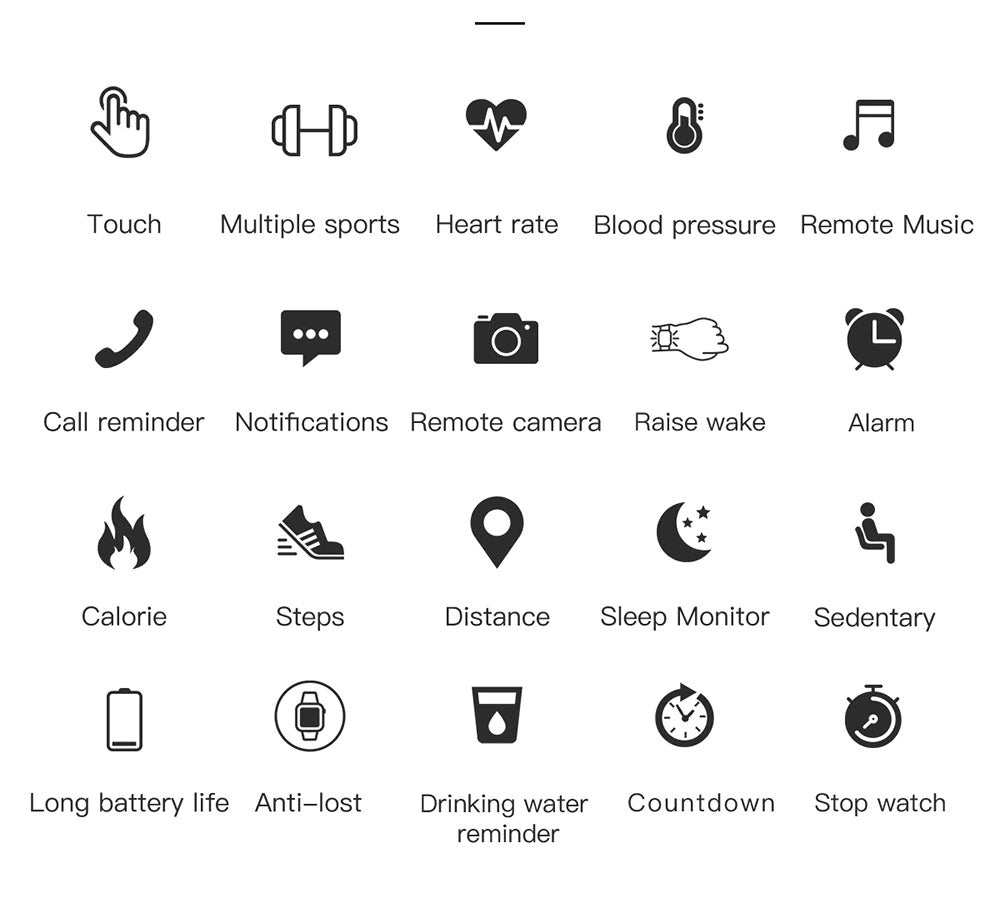 X9 Beretta Smart Watch Additional Functions Functionality