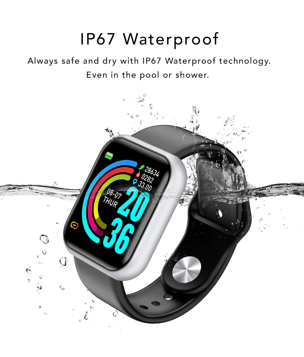 iSport Bluetooth Smart Watch SMS HD Touch Screen Sports Exercise Track Lifestyle Always Dry IP67 Waterproof Technology