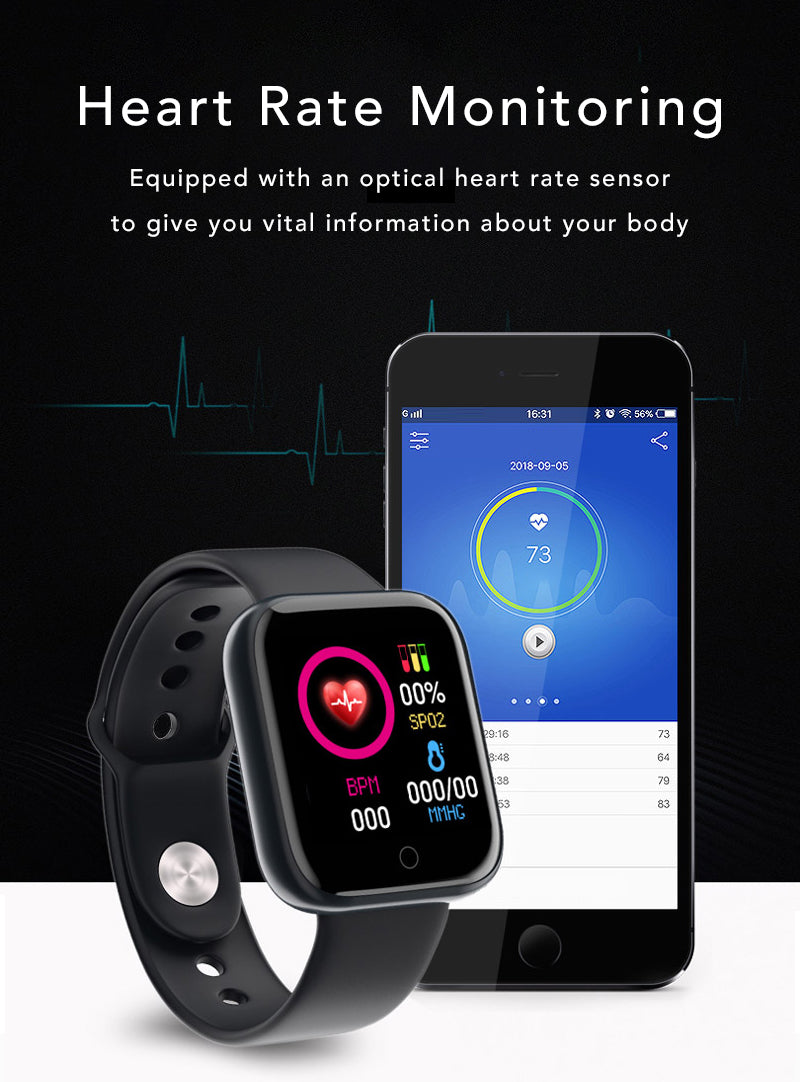 iSport Bluetooth Smart Watch SMS HD Touch Screen Sports Exercise Track Lifestyle Heart Rate Blood Pressure Monitoring