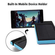 Load image into Gallery viewer, Portable Wireless Waterproof USB Solar PowerBank Battery Pack Charger iPhone Power Bank Phone Holder Built-In Mobile Device Holder