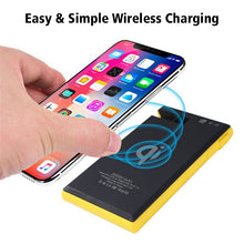 Load image into Gallery viewer, Portable Wireless Waterproof USB Solar PowerBank Battery Pack Charger iPhone Power Bank Phone Holder Easy Simple Wireless Charging
