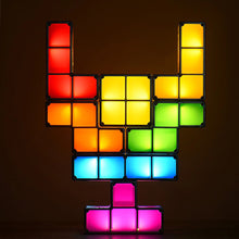 Load image into Gallery viewer, Tetromino Tetris Puzzle Desk Lamp