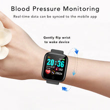 Load image into Gallery viewer, iSport Bluetooth Smart Watch SMS HD Touch Screen Sports Exercise Track Lifestyle Blood Pressure Monitoring Monitor Real Time Health Data Synced Mobile App