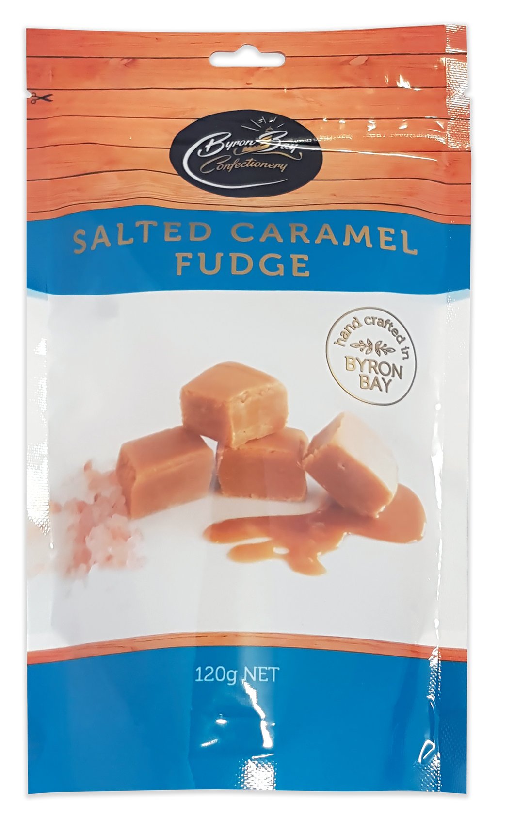 Byron Bay Confectionery Salted Caramel Fudge 120g