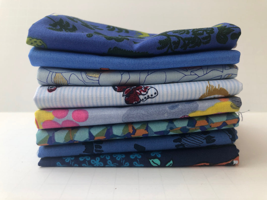 Blue Fat Quarter Precut Bundle