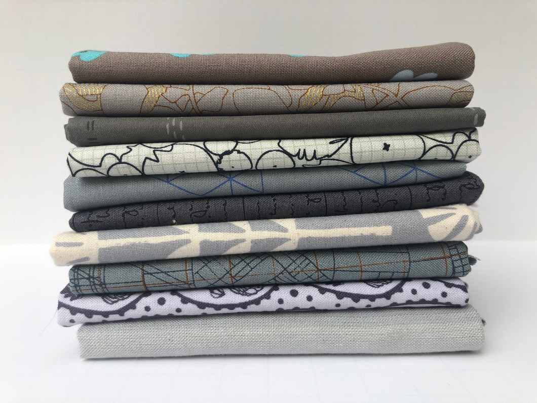 Gray Fat Quarter Precut Bundle