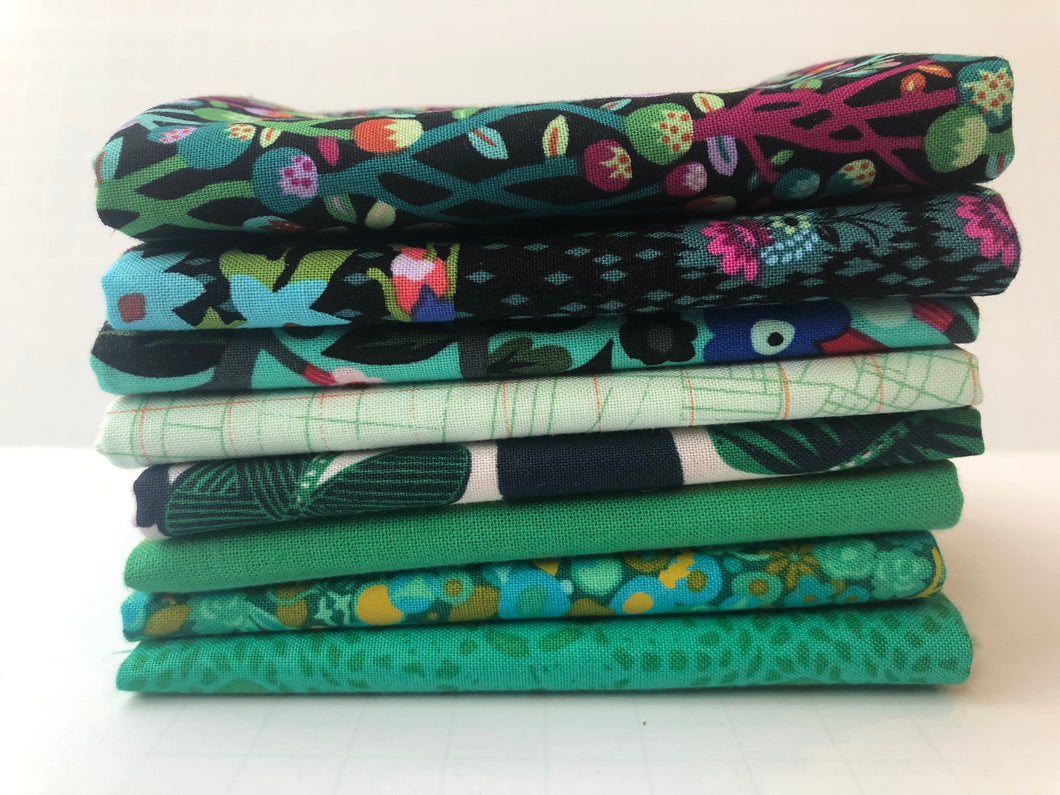 Green Fat Quarter Precut Bundle