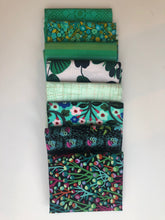 Load image into Gallery viewer, Green Fat Quarter Precut Bundle