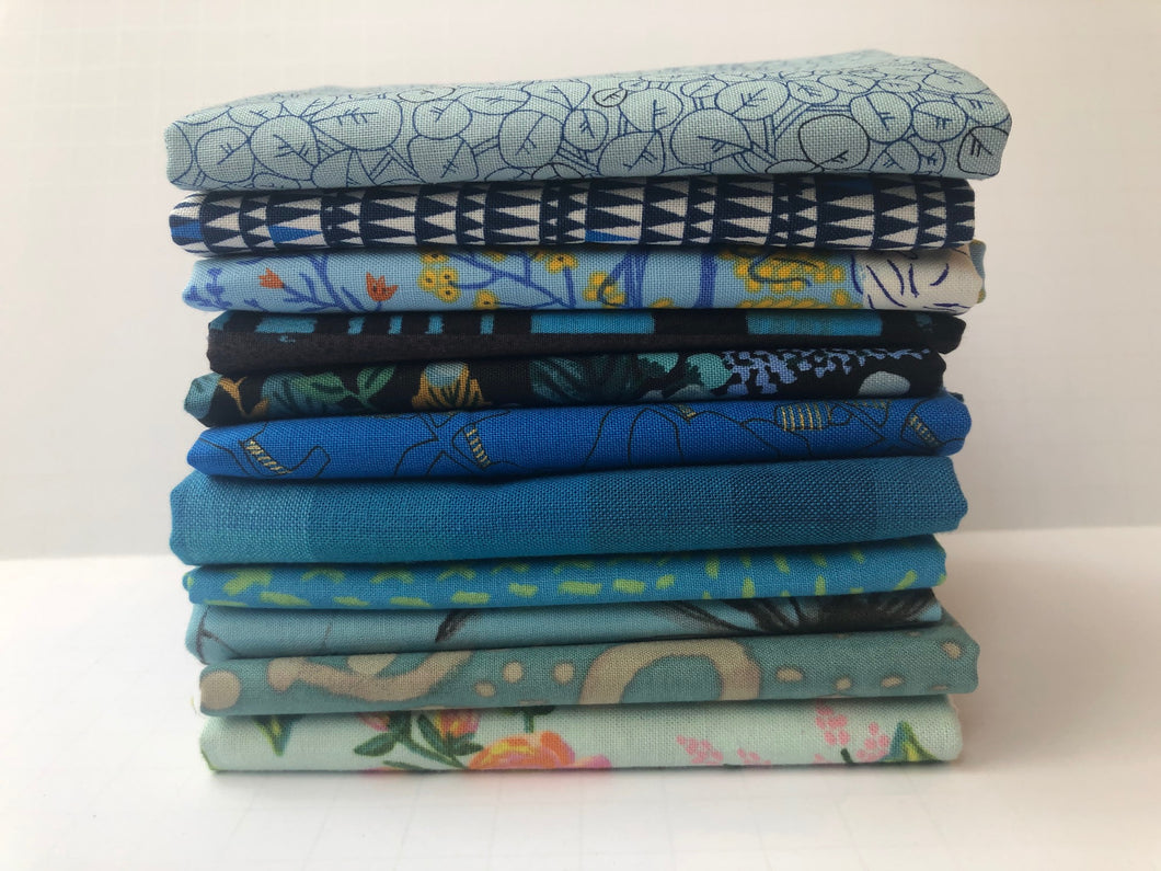 Light Blue Fat Quarter Precut Bundle