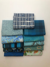 Load image into Gallery viewer, Light Blue Fat Quarter Precut Bundle