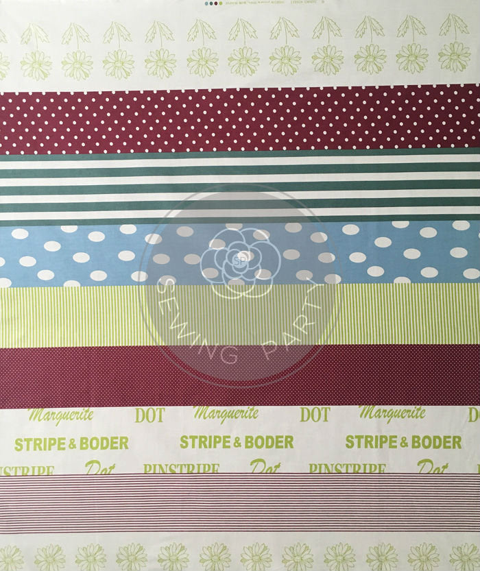SZ826440 Mint / Chocolat Designed by Suzuko Koseki from Yuwa in Japan, Half Yard