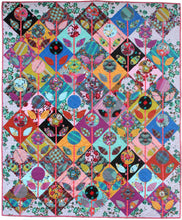 Load image into Gallery viewer, Folk Flower Quilt Pattern
