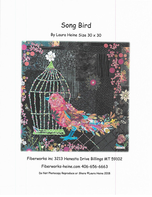 Song Bird Collage Pattern