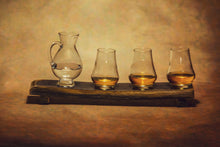 Load image into Gallery viewer, 4 Glass Whiskey Flight Oak Stave