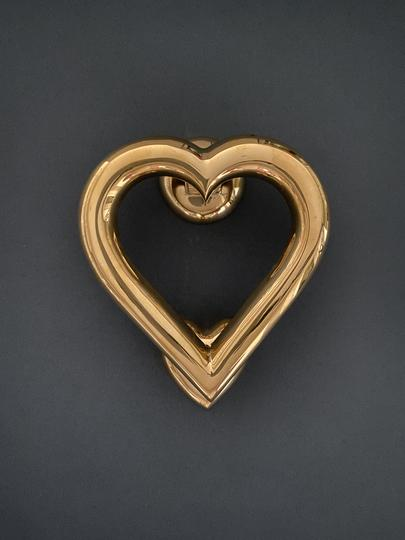 Brass Heart Door Knocker