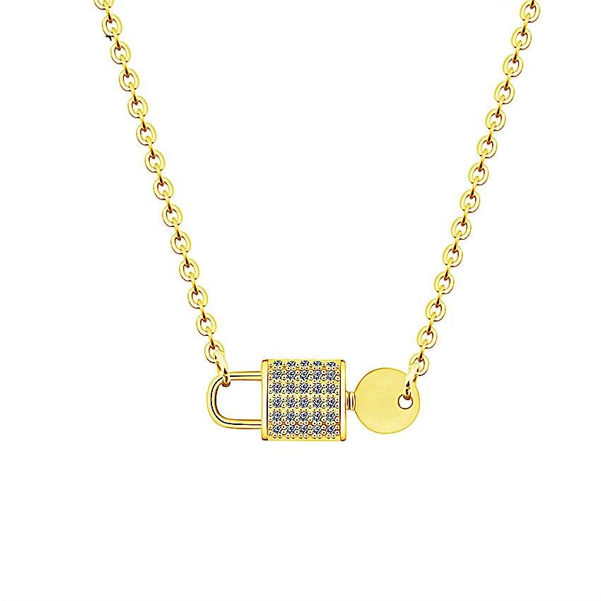Lock & Key Charm Necklace - One Of One Jewelry