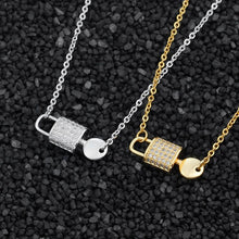 Load image into Gallery viewer, Lock & Key Charm Necklace - One Of One Jewelry