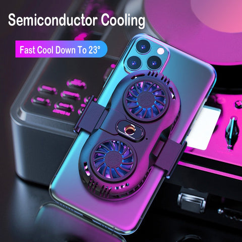 Dual Fan Mobile Phone Cooler
