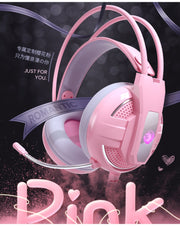 Yulass Chic Pink Gaming Headphones