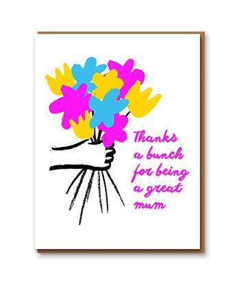 Thanks A Bunch For Being A Great Mum Mother's Day Card | Penny Black