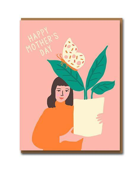 Butterfly Houseplant Mother's Day Card | Penny Black