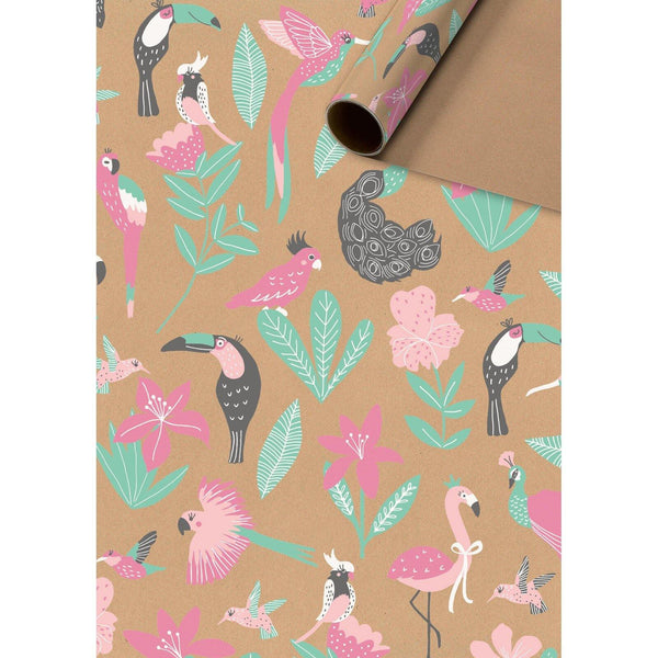 Kaena Brown Gift Wrapping Paper Roll