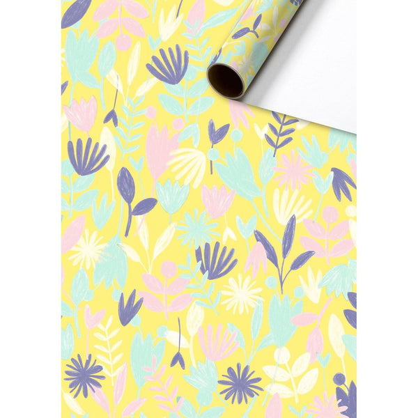 Lanea Yellow Gift Wrapping Paper Roll