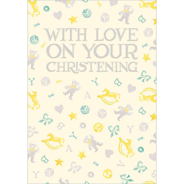 With Love On Your Christening Emma Bridgewater Card | Penny Black