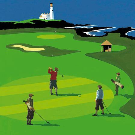 Perfect Approach Golf Birthday Card | Penny Black