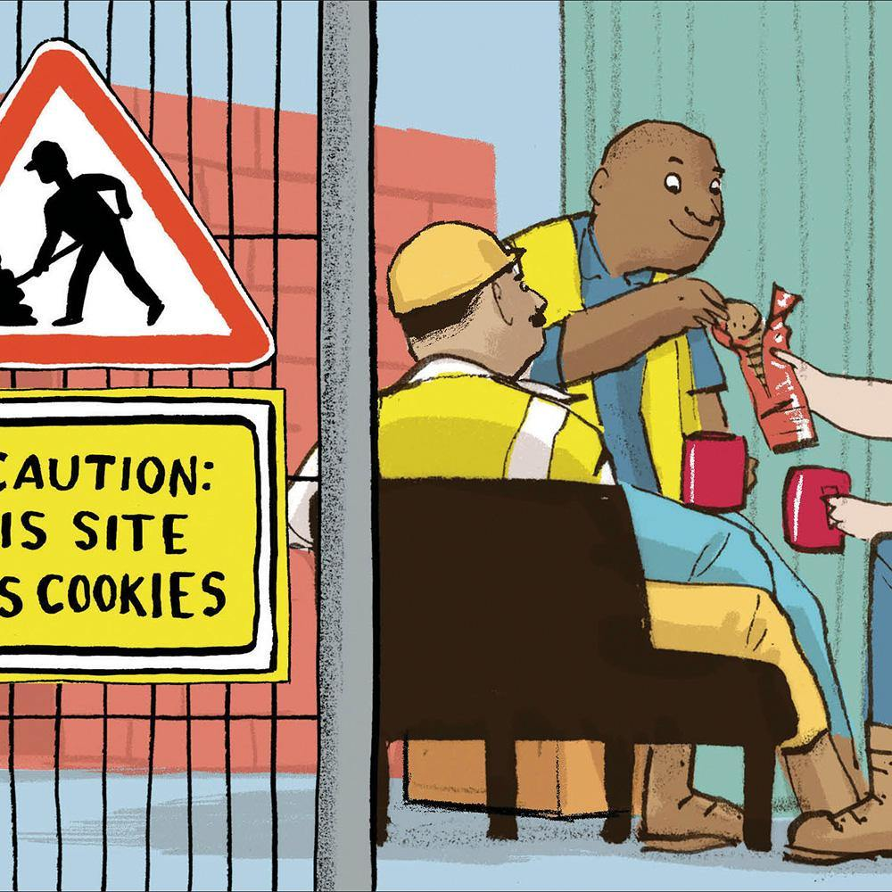 This Site Uses Cookies Funny Card | Penny Black