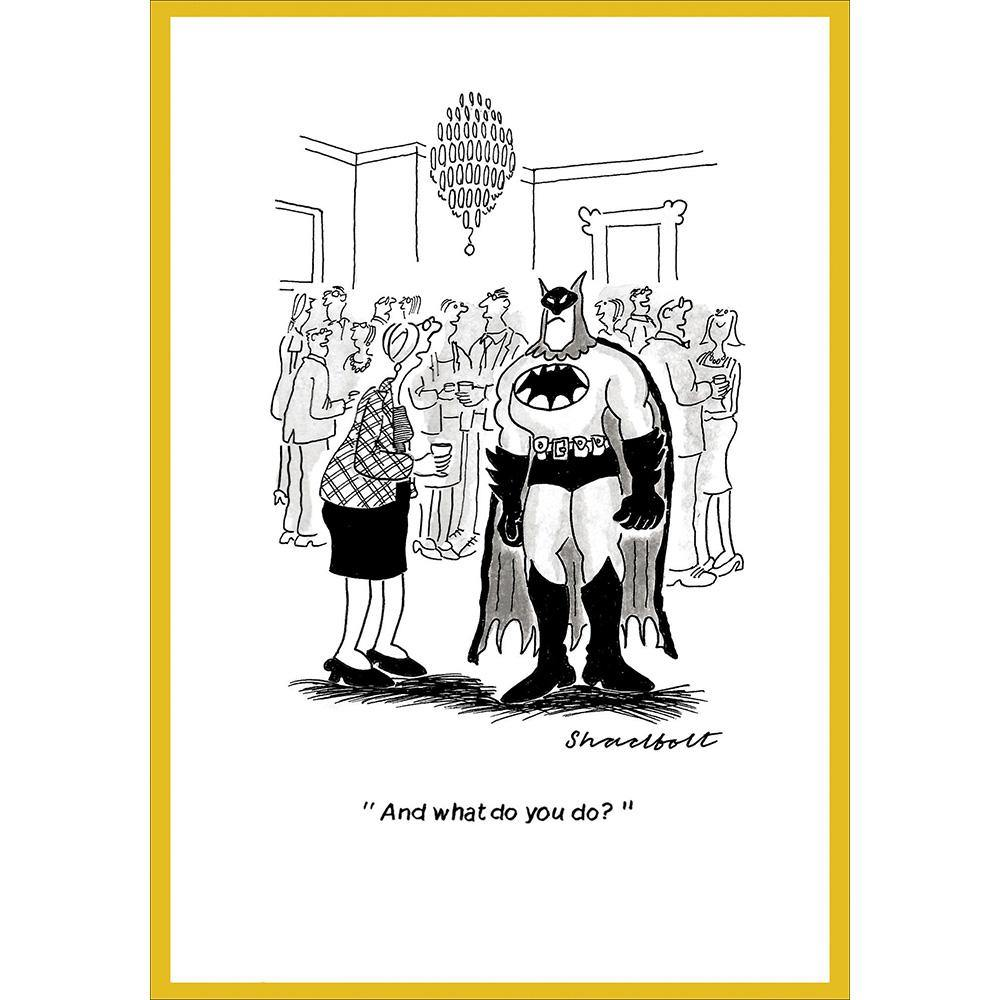 And What Do You Do Batman Funny Card | Penny Black