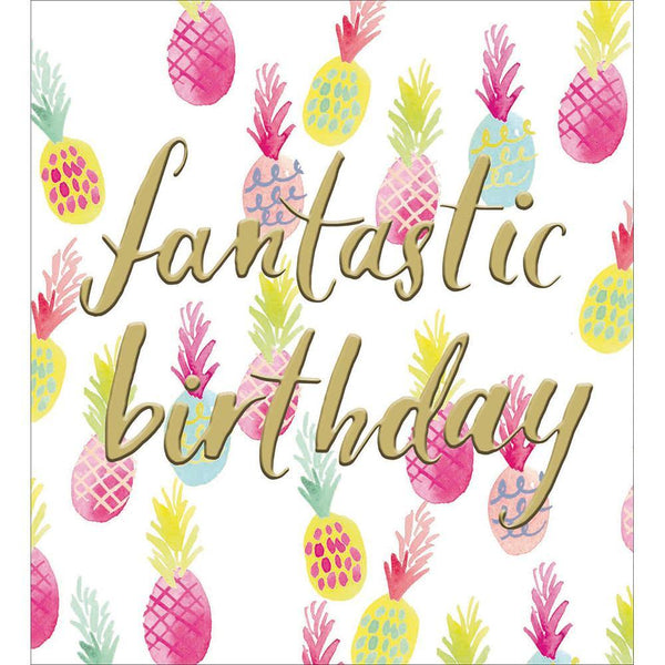 Fancy Pineapples Birthday Card | Penny Black