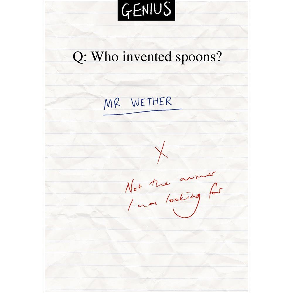 Who Invented Spoons Genius Funny Card | Penny Black