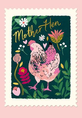 Mother Hen Folk Mother's Day Card At Penny Black