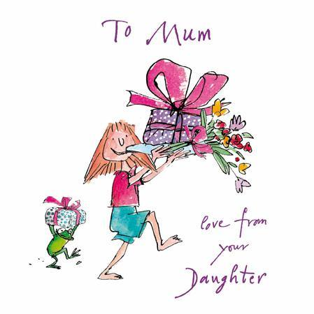 Mum Love From Your Daughter Quentin Blake Mother's Day Card At Penny Black