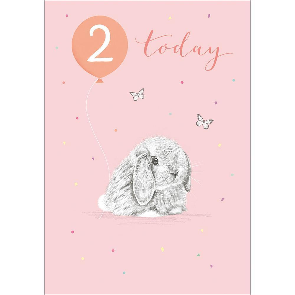 Little Bunny 2nd Birthday Card | Penny Black