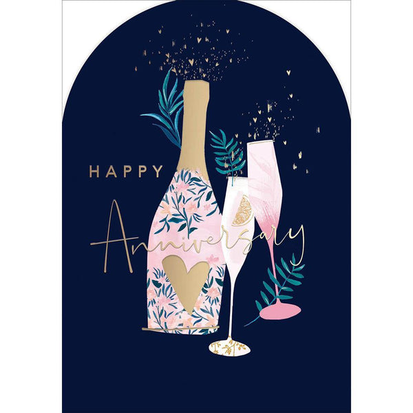 Pink Fizz Celebration Anniversary Card | Penny Black