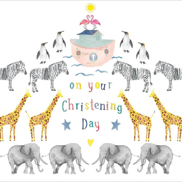 Noah's Ark Christening Card | Penny Black