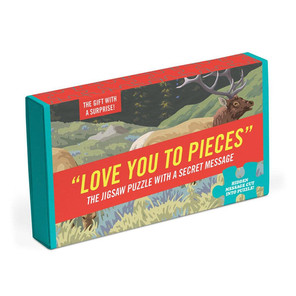 Love You to Pieces Message Puzzle - Penny Black