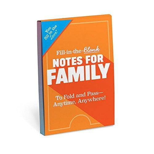 Notes For The Family - Fill In The Blanks Book