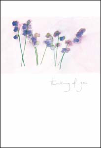 Thinking Of You Sweet Peas Greeting Card